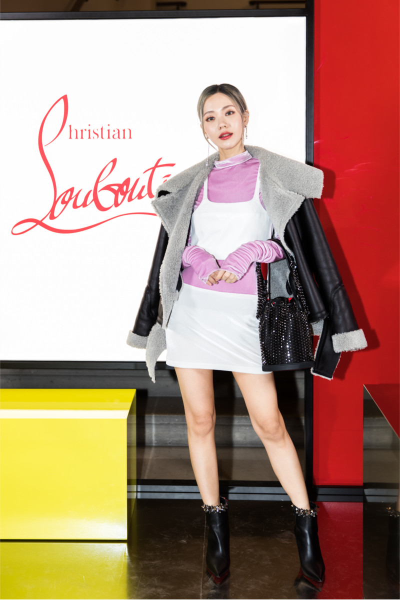 Heizle attending Christian Louboutin presentation of his Fall-Winter 2020 collection