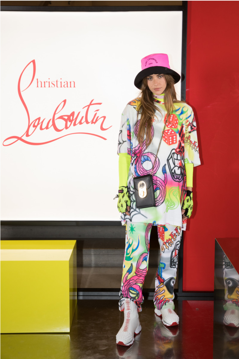 Clara Berry attending Christian Louboutin presentation of his Fall-Winter 2020 collection