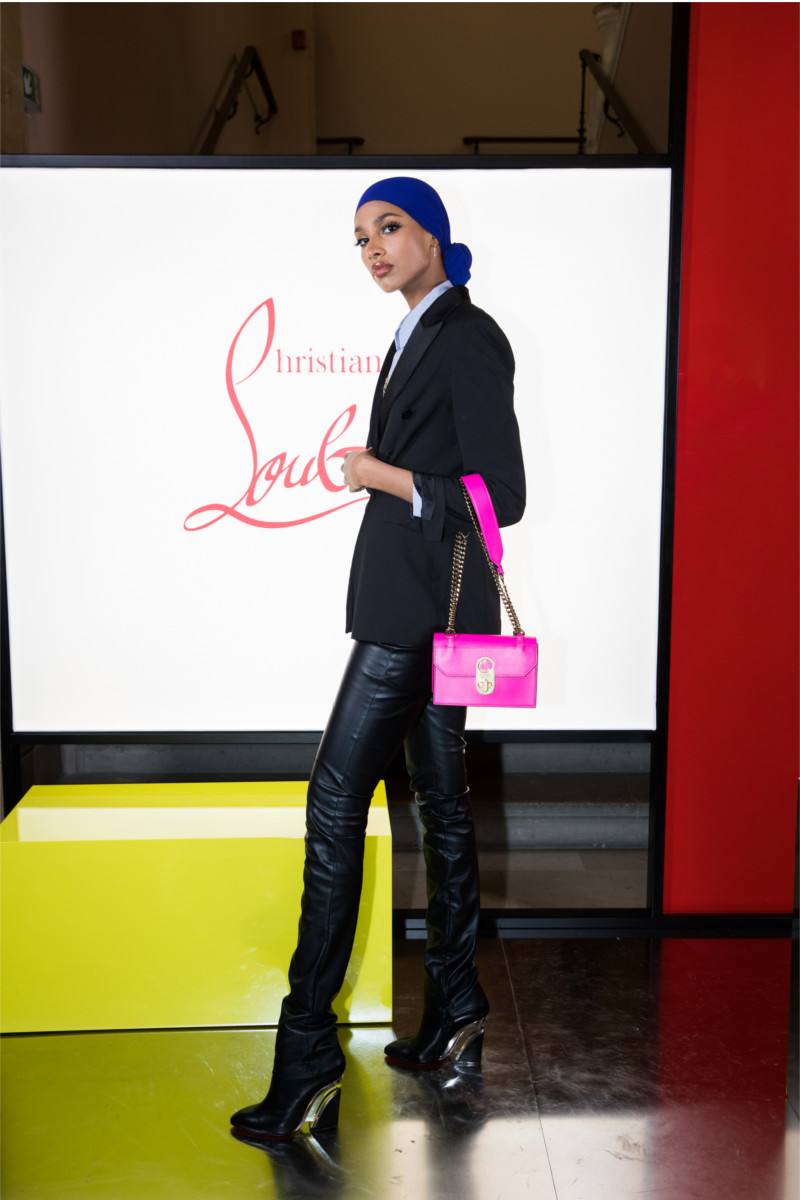 Ikra Mabdi attending Christian Louboutin presentation of his Fall-Winter 2020 collection