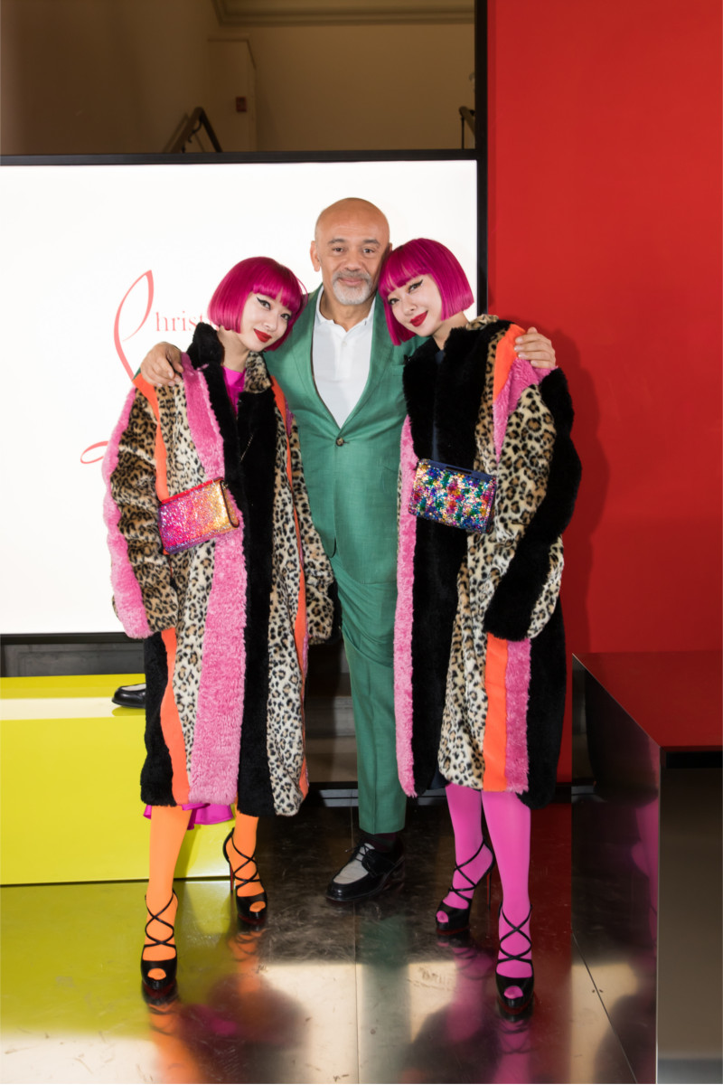 Ami and Aya Suzuki attending Christian Louboutin presentation of his Fall-Winter 2020 collection