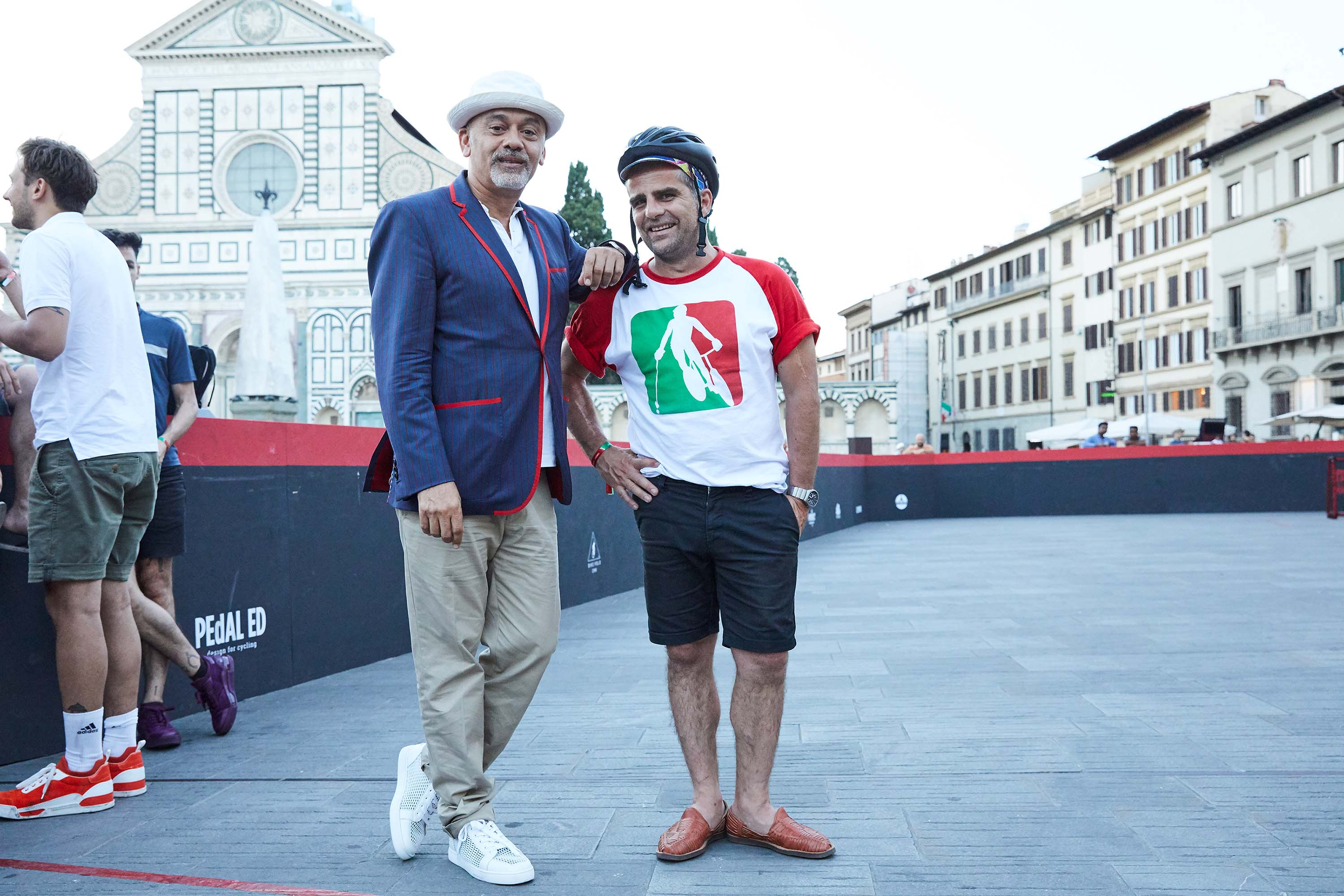Christian Louboutin and the French team Raclette Party's Yorgo Tloupas.