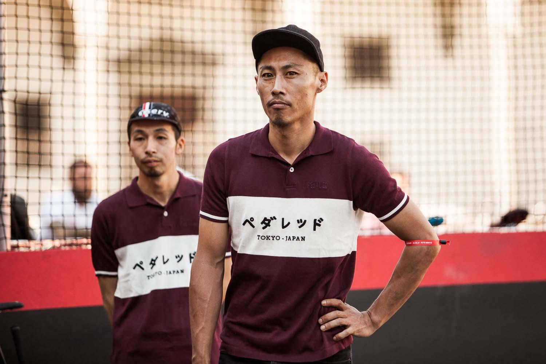 Japan's Ninja Five showcases Sundek's custom gear.