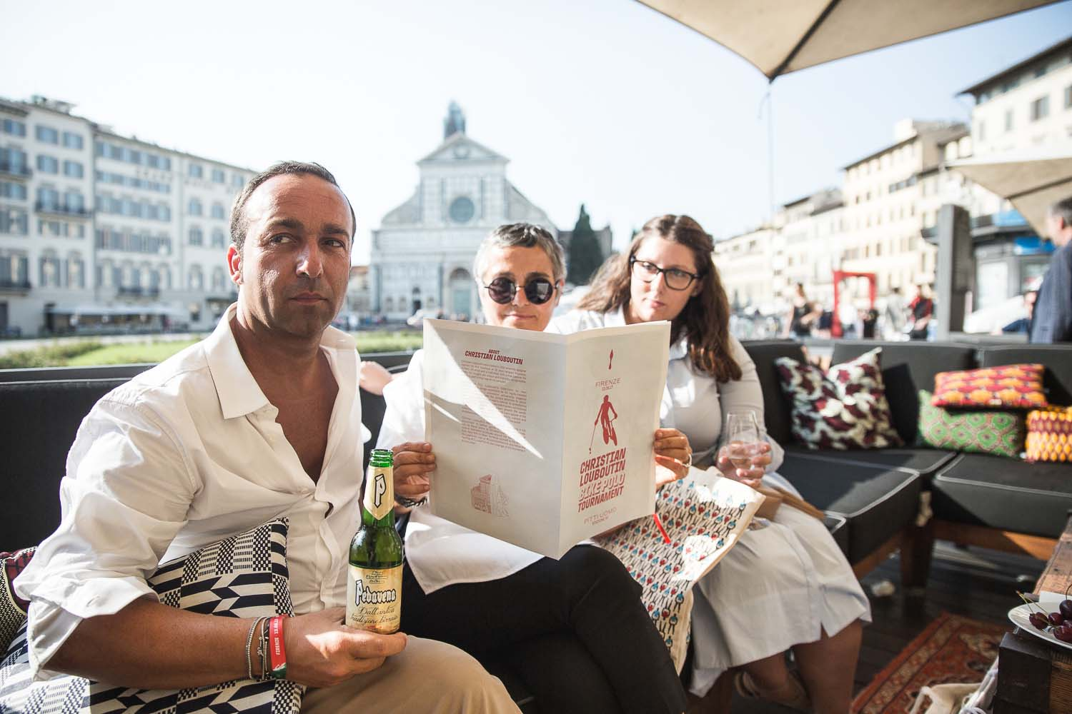 Guests can take refuge and read the cycling polo game Gazetta.