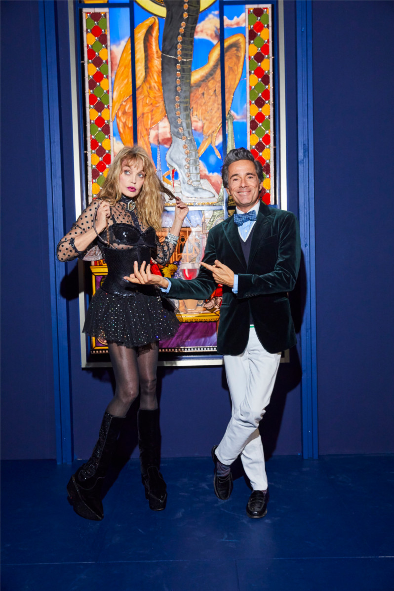 Arielle Dombasle et Vincent Darré attended the opening of Christian Louboutin L'Exhibition[niste]