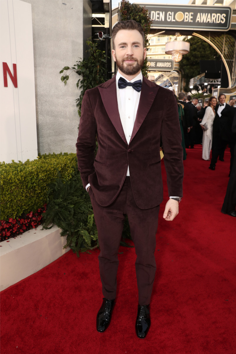 Chris Evans - 77th Annual Golden Globe Awards