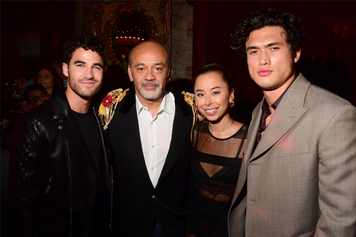 Christian Louboutin, Charles Melton, Darren Criss and Ashley Weston