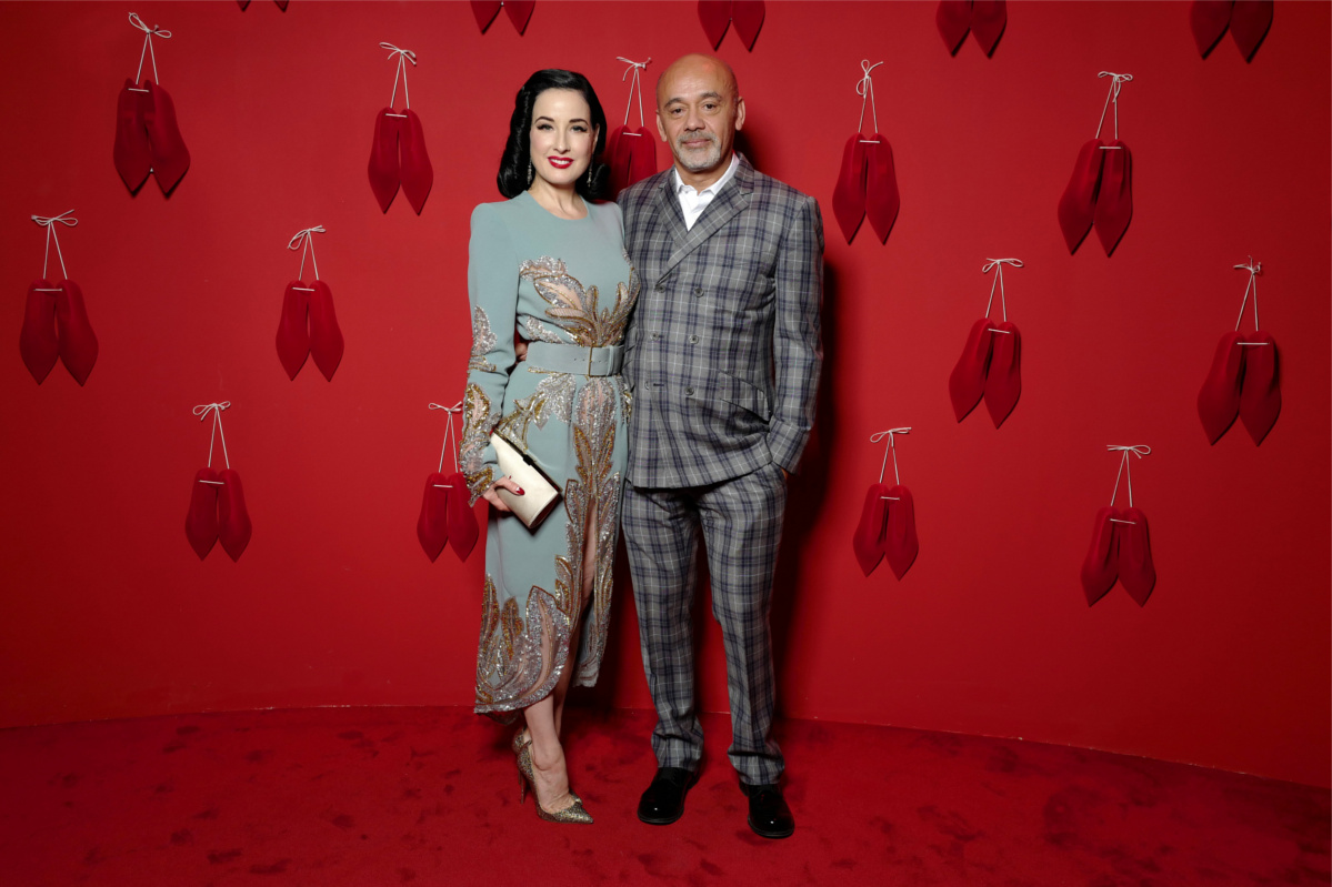 Christian Louboutin and Dita Von Teese at the opening of L'Exhibition[niste] - © Stéphane Feugère