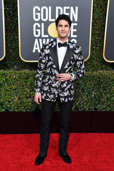 Darren Criss wears the iconic Greggo black patent shoe on his winning night