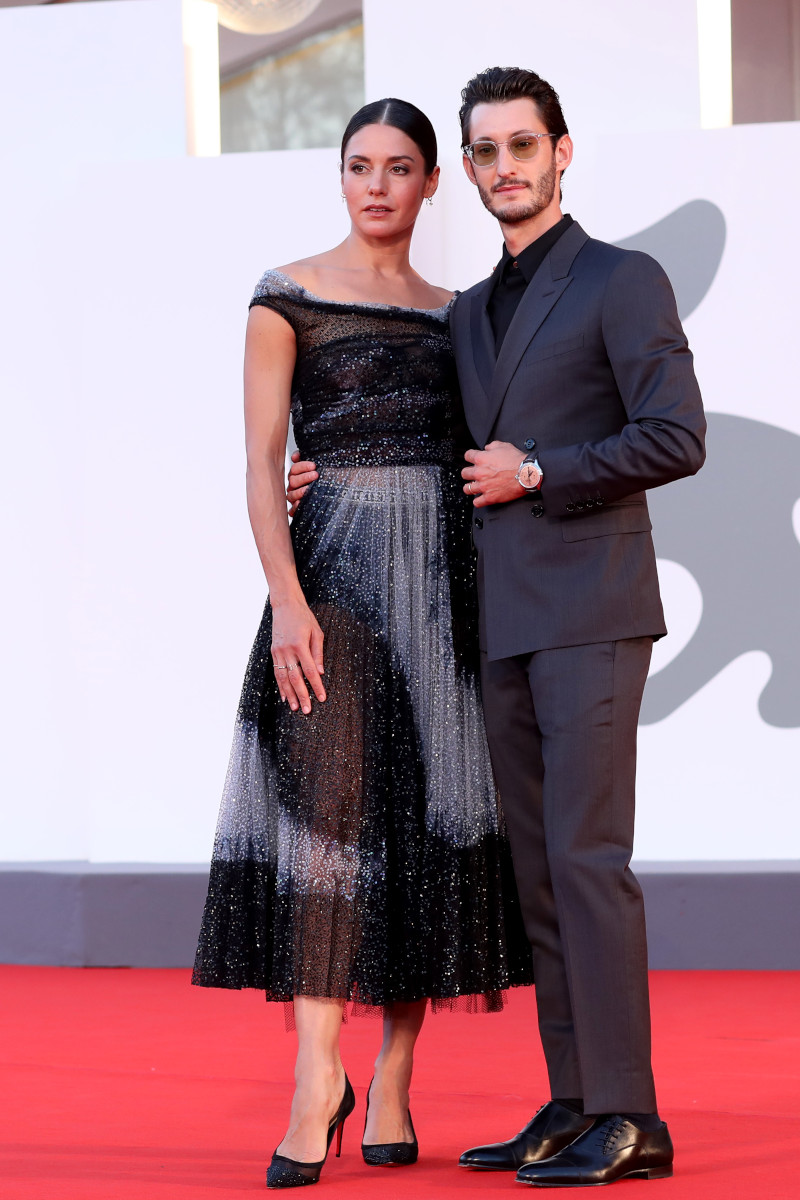 Pierre Niney & Natasha Andrews in DR Jack & Galativi - 77th Venice Film Festival - Getty Images