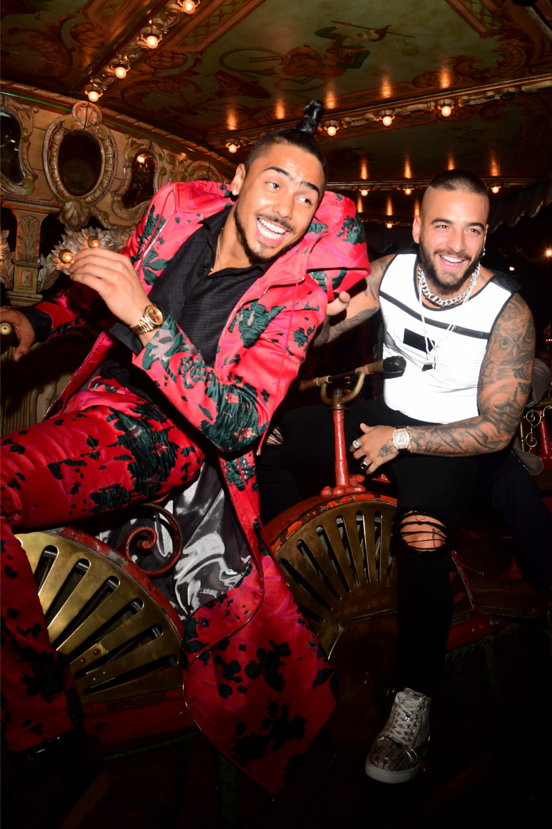 Quincy Brown and Maluma